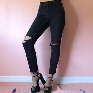 Madewell Hi Rise Distressed Skinny Jeans